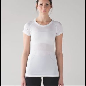 Lululemon Women Swiftly Short Sleeve White Sz 10